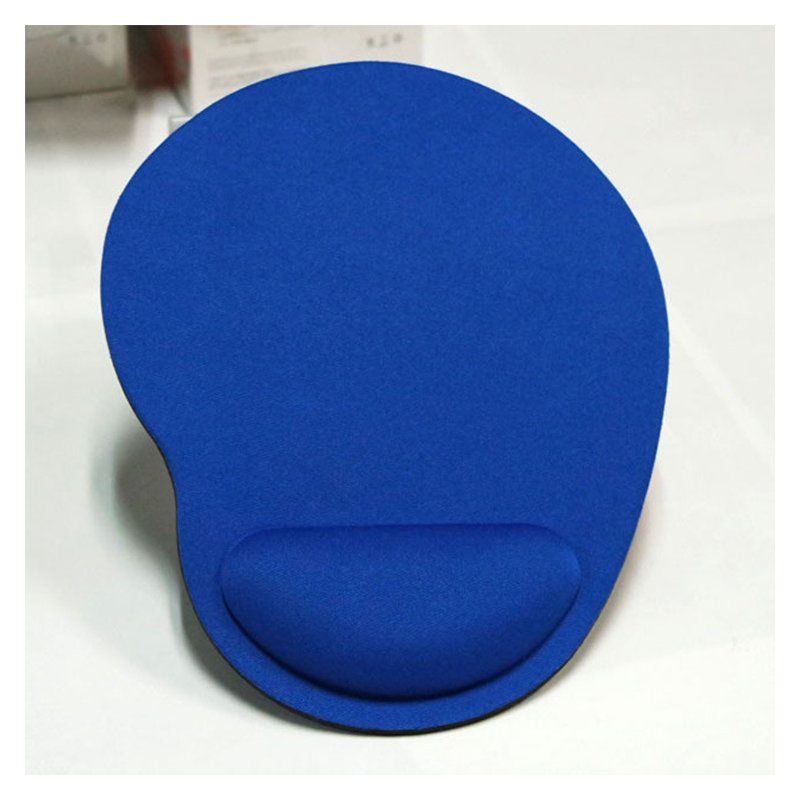 Computer Mouse Pad Solid Color Wrist Protection Anti-slip Pad  blue