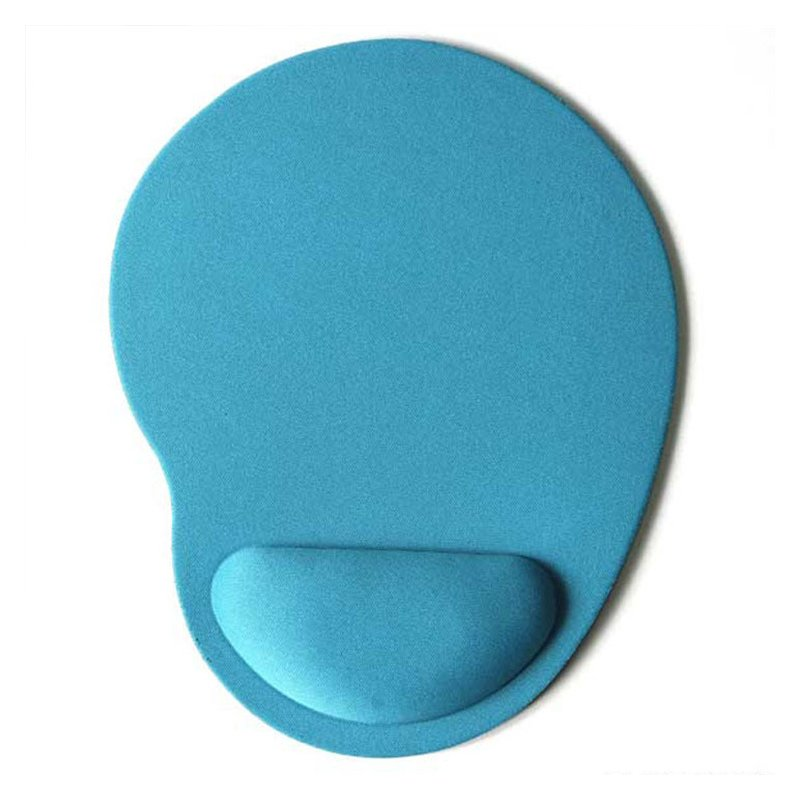Computer Mouse Pad Solid Color Wrist Protection Anti-slip Pad  sky blue