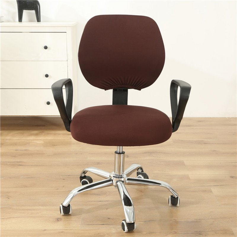 Computer Office Chair  Covers Stretch Rotating Chair Slipcovers Cover coffee