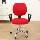 Computer Office Chair  Covers Stretch Rotating Chair Slipcovers Cover bright red
