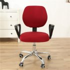Computer Office Chair  Covers Stretch Rotating Chair Slipcovers Cover Wine red