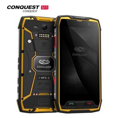 Conquest S11 Smartphone Yellow 128GB