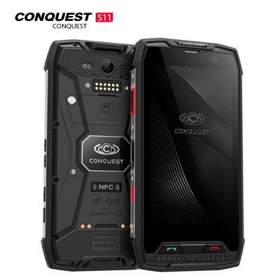 Conquest S11 Smartphone Black 128GB