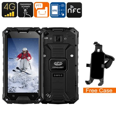 Conquest S6FP IP68 Smartphone (Black)