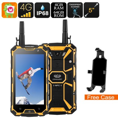 Conquest S8 Rugged Phone 2017 (Yellow)