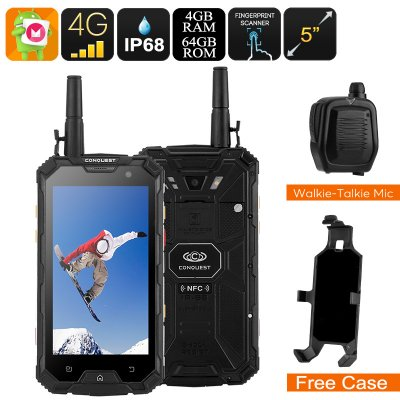 Conquest S8 Rugged Phone 2017 (Black)