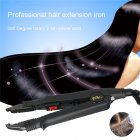 Constant Temperature  Hair Extension Iron Professional Hair Styler Salon Model-Flash Keratin Bonding Tools black_British regulatory