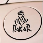 Cool DAKAR Letters Reflective Fashion Car Decals black