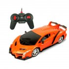 Cool Electric Remote Controlled Racing Sports Car Toy for Kids Boys Lamborghini orange_1:16