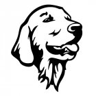 Cool Golden Retriever Dog Cute Pet Dog Decals Car Styling Sticker black