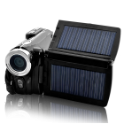 Cool Solar Powered Digital Camcorder  featuring fold out Dual Solar Charging Panels and a High Spec 16MP  720x480 Resolution all in a Compact and Modern Design