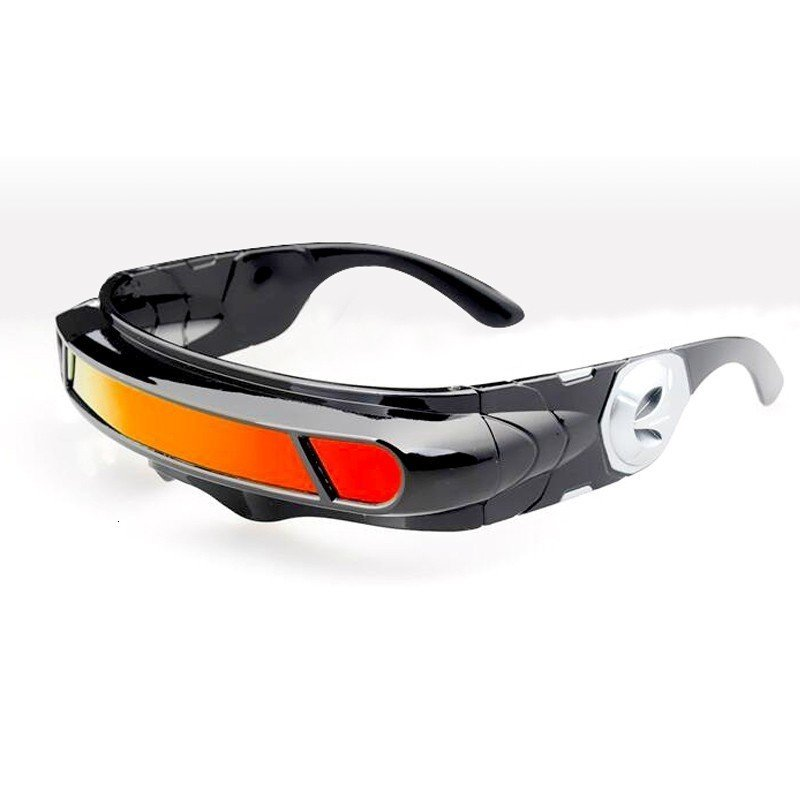 Cool Sunglasses with Narrow frame Cyclops Shield Party Mirror Mono Lens polaroid glasses