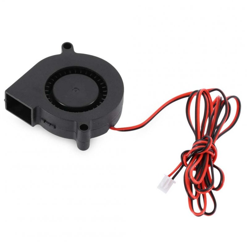 Cooling Turbo Fan 5015  12V 24V 2-pin Black Plastic Fan for or DC Cooler Extrude for Brushless 3D Printer 12v