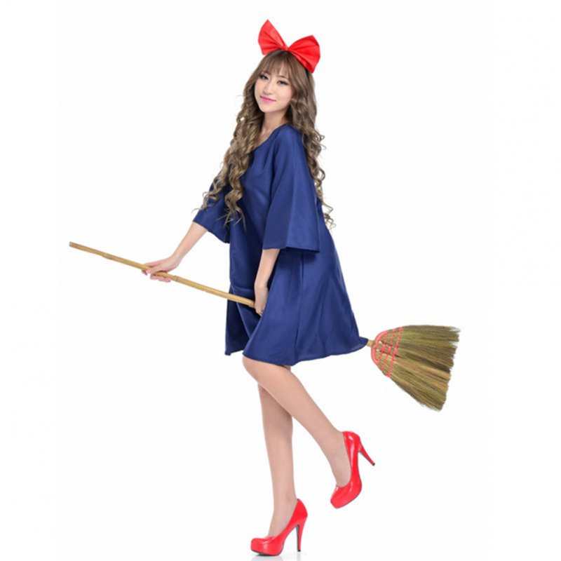 Cosplay Costume Witch Dress Halloween Costume Children(suitable for height 110-150cm)_Free size
