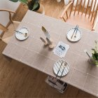 Cotton Embroidery Plaid Tablecloth Table Cover For Home Party Resturant Coffee_90*90cm