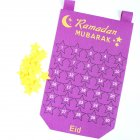 Countdown Calendar Felt Hanging Pendant for Eid Ramadan purple
