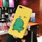 Couple Cute Cartoon Yellow Green Small Dinosaur Mobile Phone Protection Shell Phone Case Phone Cover For OPPO yellow_OPPO A37