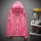 Couple Quick-drying Breathable Anti-UV Wear-resistant Sunscreen Hooded Coat Outdoor Sportswear red_XL