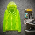 Couple Quick drying Breathable Anti UV Wear resistant Sunscreen Hooded Coat Outdoor Sportswear green M