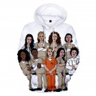 Couple Women Men American Drama Orange Is the New Black 3D Printing Hoodie Tops 1#_2XL