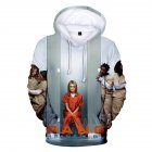 Couple Women Men American Drama Orange Is the New Black 3D Printing Hoodie Tops 3  M