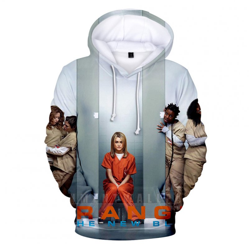 Couple Women Men American Drama Orange Is the New Black 3D Printing Hoodie Tops 3#_M