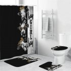 Cow Head Printing Shower  Curtain Waterproof Bathroom Hanging Curtain Decor yul-1843-head 4_180*200cm
