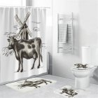 Cow Head Printing Shower  Curtain Waterproof Bathroom Hanging Curtain Decor yul-1840-Cow Windmill_180*200cm