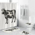 Cow Head Printing Shower  Curtain Waterproof Bathroom Hanging Curtain Decor yul-1841-Cow_150*180cm