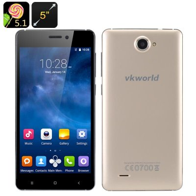 VKworld 700x Android 5.1 Smartphone (Gold)