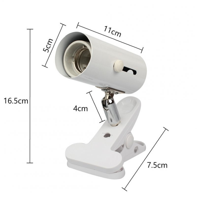 Crawler Lamp Frame Tortoise Lamp Lizard Snake Lamp Clip 360 Degree Universal Metal Head Holder white