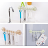 Creative Adjustable Suction Disk Hanger Nail free Kitchen Bathroom Wall Hook Decoration blue