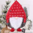 Creative Calendar Forest Old Man Christmas Ornaments Wall Party Pendant Decorations  Red