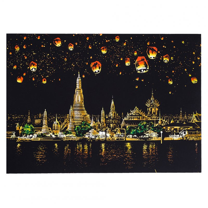 DIY Painting World Sightseeing Pictures