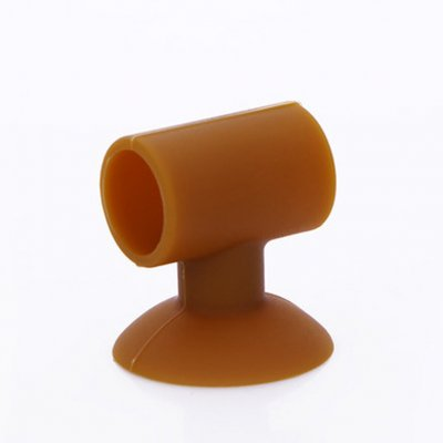 Creative Door Handle Lock Silencer Protection Pad Suction Cup Wall Mute Anti-crash Mat Brown