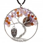 Creative Elegant Life Tree Owl Pendant Necklace Women Fashion Jewelry