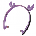 Creative LED Cartoon Luminous Elk Ear 5.0 Foldable In-ear Wireless Bluetooth Headset purple