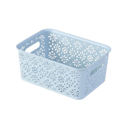 Plastic Hollow Pattern Storage Basket