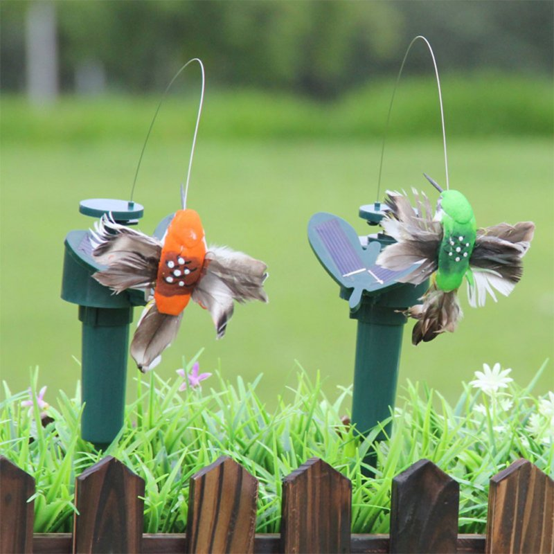 Creative Simulation Butterflies/Feather Bird Solar-Powered Vibration Dancing Flying Garden Decor Solar feather bird