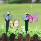 Creative Simulation Butterflies/Feather Bird Solar-Powered Vibration Dancing Flying Garden Decor Solar Butterfly