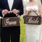 Creative Wooden Groom & Bride Wedding Chair Banner Set Chair Sign Vintage Wedding Party Decoration Shooting Props