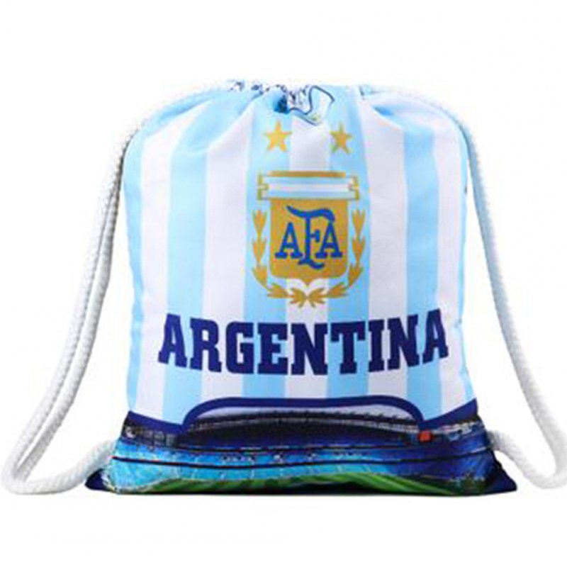 Creative World Cup Theme Drawstring Bags Clothing Cosmetics Toys Storage Bag