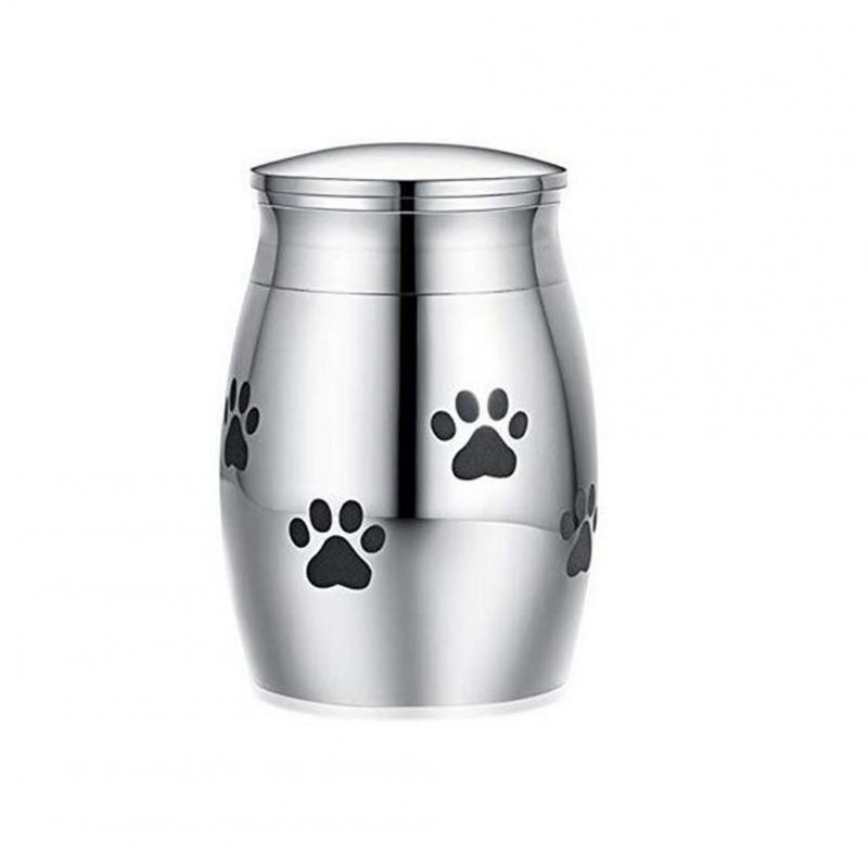Cremation Urn for Pet Ashes Keepsake Miniature Burial Funeral Urns for Sharing Ashes Dogs Cats A circle of paw prints_30 * 20MM