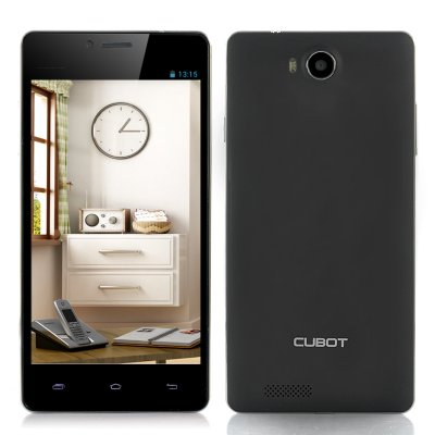 Cubot S208 5 Inch Quad Core Phone (Black)