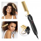 Curling Comb Wet Dry Dual-use Household Electric Iron Straight Hair Perm Comb Styling Tool US plug