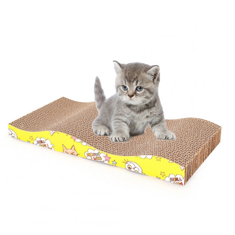 Curve Scratching Board Pet Wear Resistant Corrugated Paper Claws Grinding Cat Toy 45 * 21.5 * 5cm