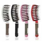 Curved Comb Massage Comb for Curly Hair Ribs Comb Pink_With hair type