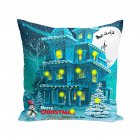 Cushion Cover Led Light Merry Christmas X max Glow Throw Led Pillow Case Super Sofa Pillow case Cushion Pillowcase