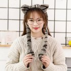 Cute Animal Shape Hair Clasp Moving Lighting Ears by Pressing Hair Band Cat