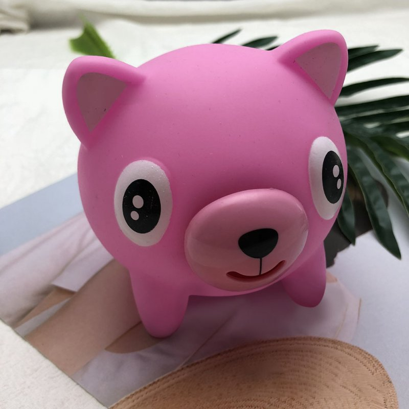 Cute Animal Shape Pinch Tongue Spoof Squeezing Doll Toy Stress Reliever